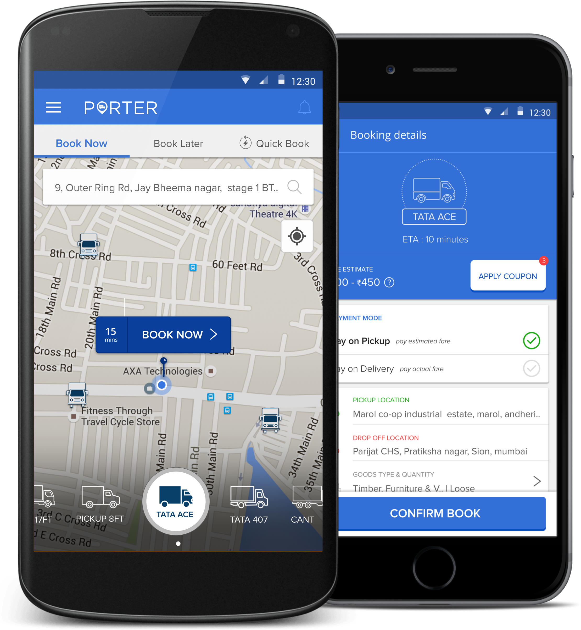 Porter App for online truck booking