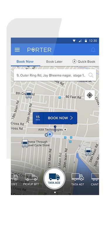 Porter App to hire mini truck